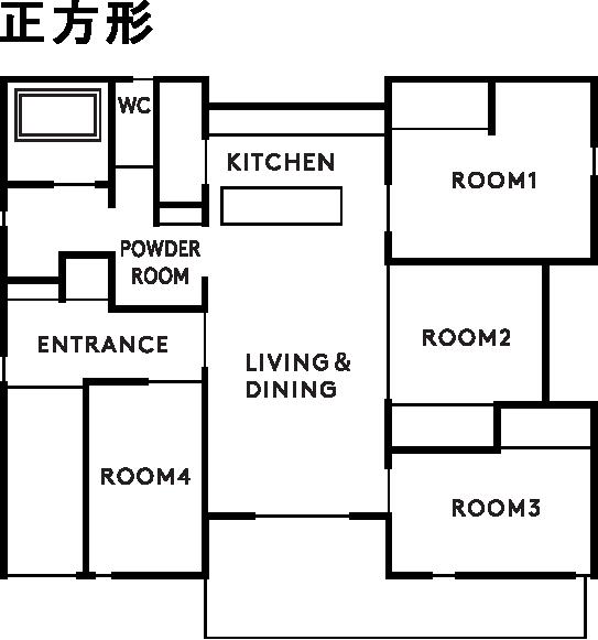 casa piatto 設計図