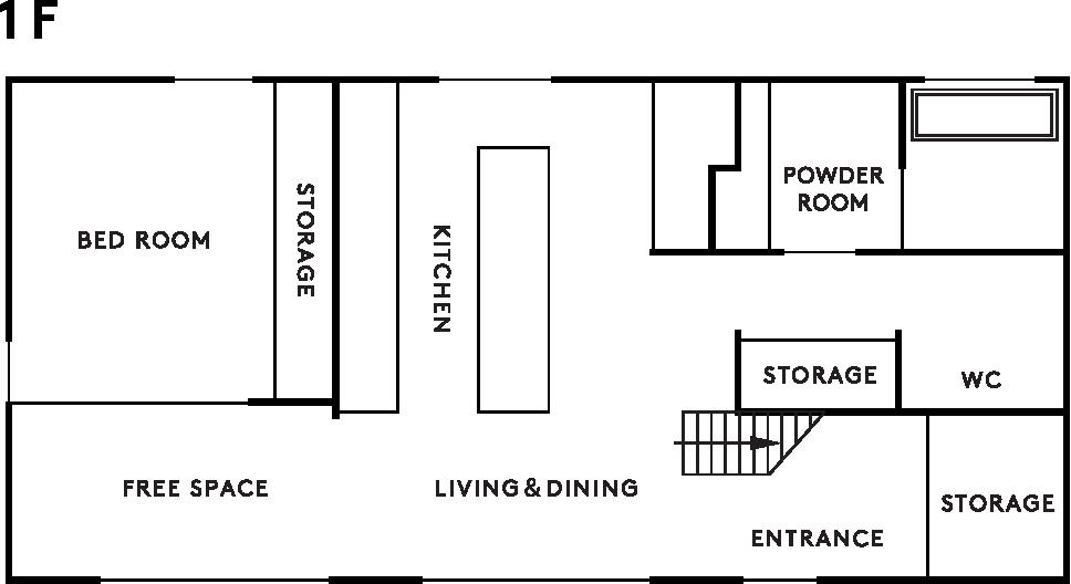 casa amare 1階設計図