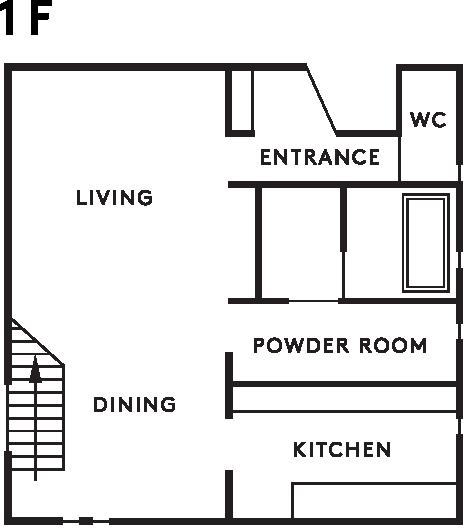 casa cube 1階設計図