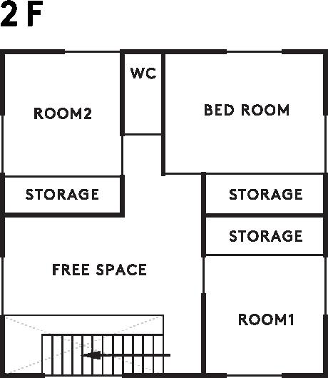 casa sole 2階設計図