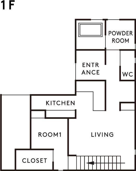 プラン 1階設計図
